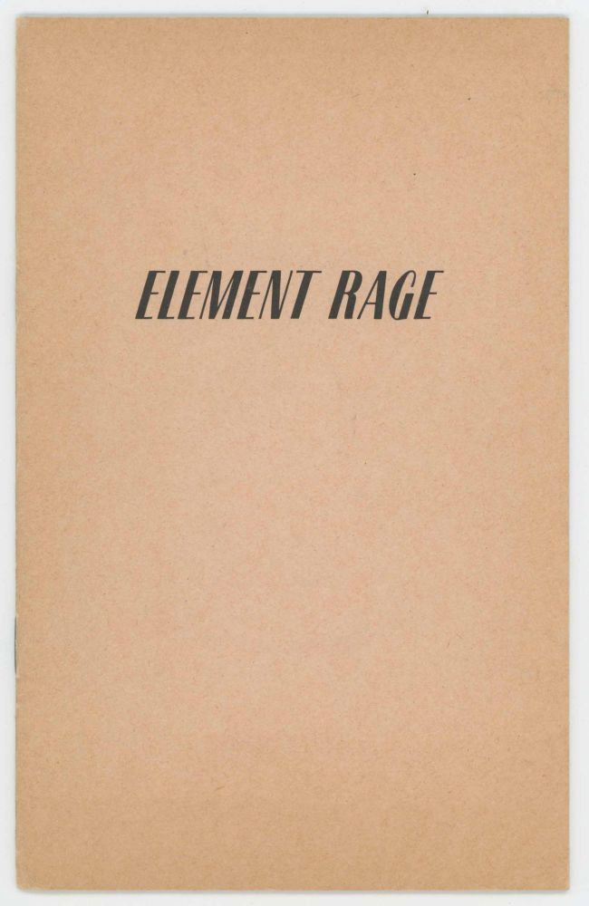 Element Rage. Martine ABALLÉA.