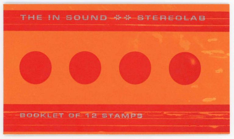 The In Sound: Booklet of 12 Stamps [Red/Orange]. Stereolab.