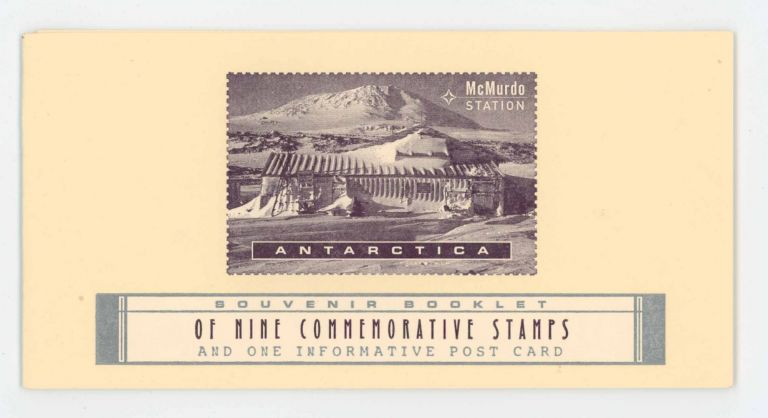 McMurdo Station Antarctica: Souvenir Booklet of Nine Commemorative Stamps and One Informative Post Card. Bruce Licher.