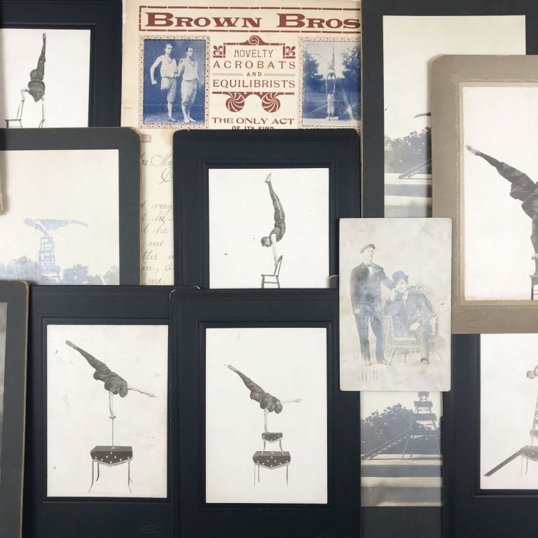 Collection of Photographs and Ephemera Documenting a One-Legged Equilibrist. Brown Brothers.