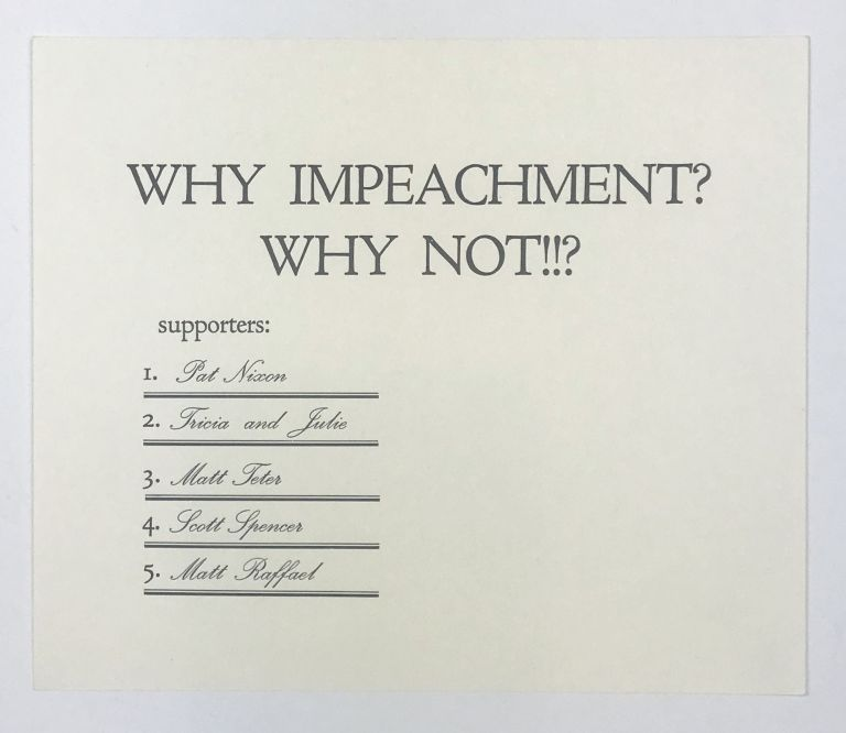 Why Impeachment? Why Not!!? Zephyrus Image.
