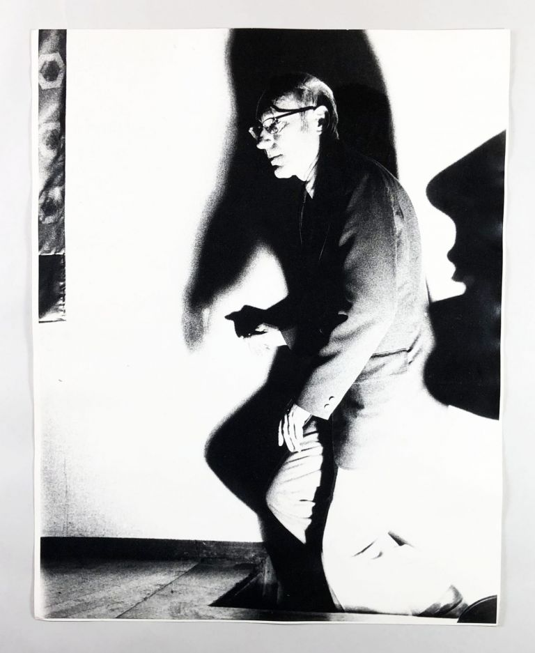 Untitled Photograph of William S. Burroughs Descending A Staircase Into Darkness. William S. Burroughs, Mayotte Magnus?
