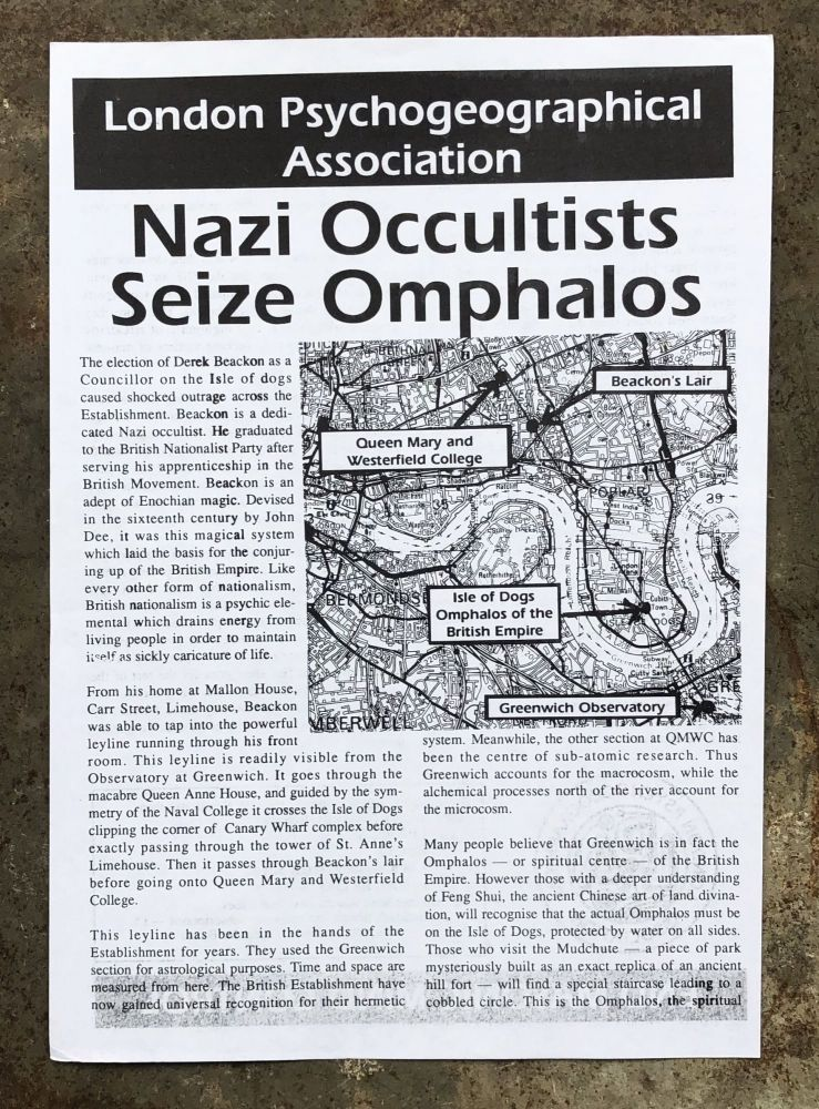 Nazi Occultists Seize Omphalos. London Psychogeographical Association.