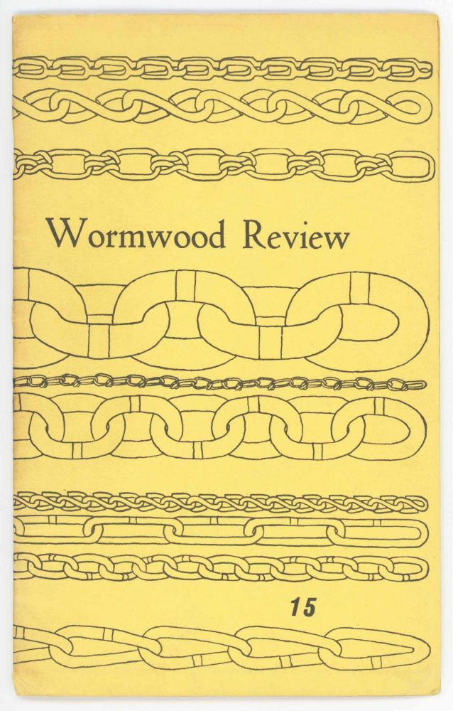 Wormwood Review Vol. 4, No. 3. [No. 15]. Marvin Malone, ed, William Wantling.