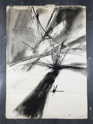 Abstract Untitled Ink Drawing from the Collection of Bobbie Louise Hawkins and Robert Creeley. René Laubies.
