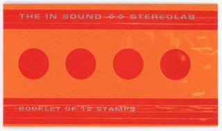 The In Sound: Booklet of 12 Stamps [Red/Orange]. Stereolab