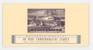 McMurdo Station Antarctica: Souvenir Booklet of Nine Commemorative Stamps and One Informative...