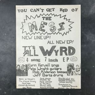 Flyer for the It's All Wyrd EP. The Mess