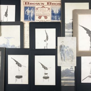 Collection of Photographs and Ephemera Documenting a One-Legged Equilibrist. Brown Brothers