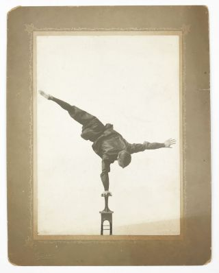 Collection of Photographs and Ephemera Documenting a One-Legged Equilibrist