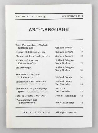 Art-Language. Vol. 2, No. 3. Art, Language