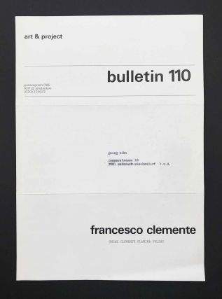 Art & Project Bulletin 110. Francesco Clemente