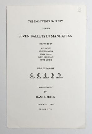 Seven Ballets in Manhattan. Daniel Buren
