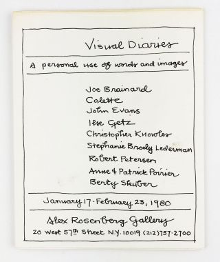 Visual Diaries: A Personal Use of Words and Images. Joe Brainard