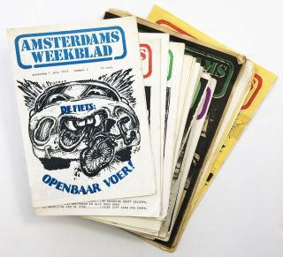 Amsterdams Weekblad Nos. 1-17, 19-33, 35-45 [43 issues, with Poster]. Squatting