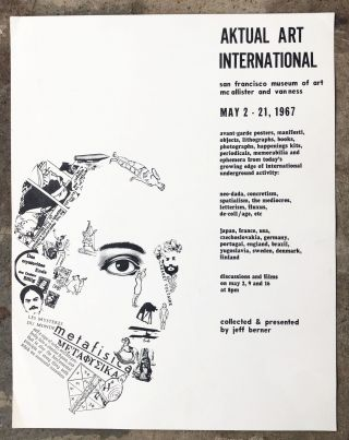 Poster for Aktual Art International. Jeff Berner, Lorenz Eitner Francoise Forster-Hahn
