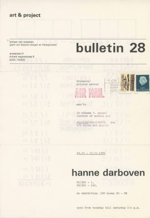 Art & Project Bulletin 28. 100 Books 00-99. Hanne Darboven