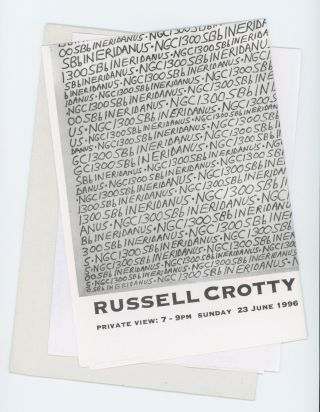 Poster Invitation to the Private View of Deep Sky and Planetary Drawings. Russell Crotty