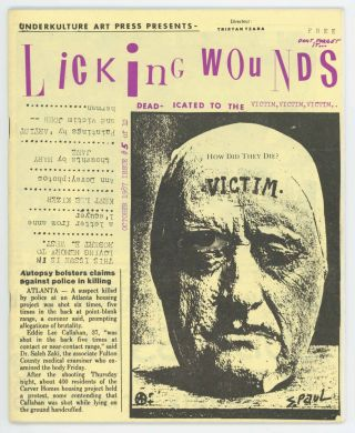 Licking Wounds #5 of 12. Tristan Tzara, ed