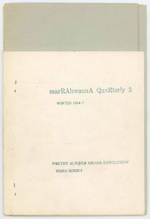 marRAhwannA Quarterly 2. d. a. levy, ed
